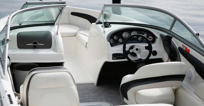 Boat driver seat